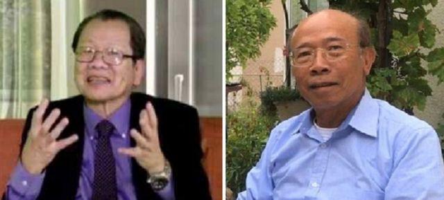 TS Đinh Xuân Quân (trái) và ông Nguyễn Gia Kiểng