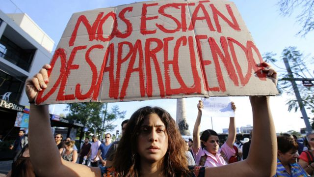 Protesta desaparecidos