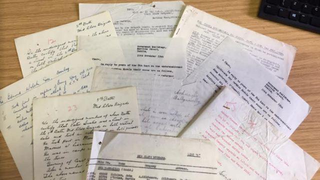 Joe Barrett's 100-year-old IRA archive found in attic