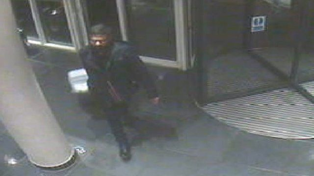 CCTV of Sammy Almahri arriving at the Future Inn