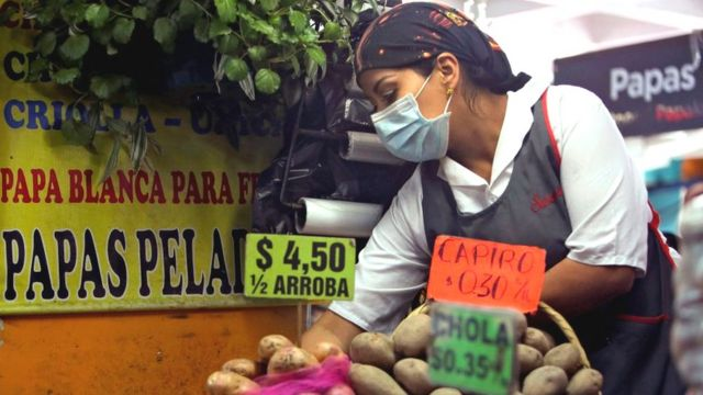 Vendedora en mercado