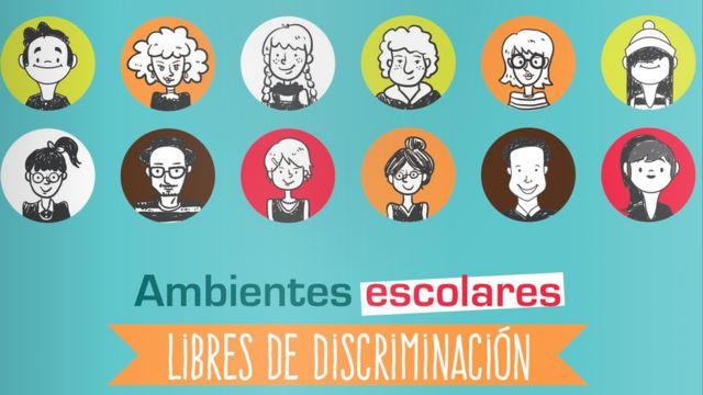 """Fragmento de la portada del manual """"Ambientes escolares libres de discriminación""""."""