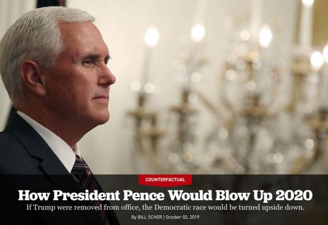 """نشریه پولتیکو از کاخ سفید """"بعد از ترامپ"""" و به ریاست مایک پنس نوشته و گفته این پیشبینی ممکن است تا فوریه سال آینده میلادی تعبیر شود"""