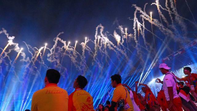 upacara penutupan Asian Games.