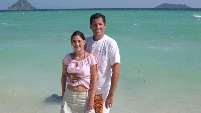 Pablo García y su esposa Mora durante ese viaje.