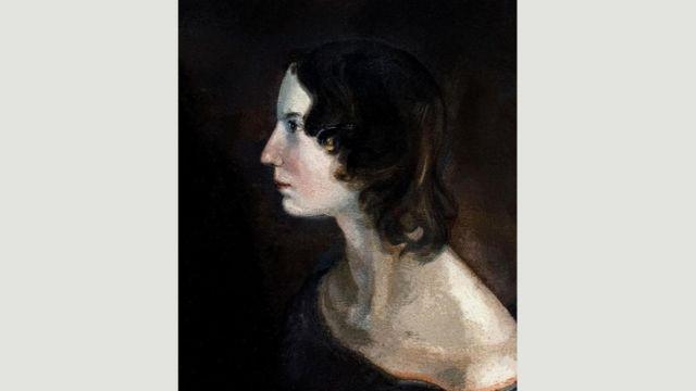艾米莉(图中形象源自她弟弟画的一幅画)注重保护隐私,去世时年仅30岁。很多人认为,她一生中没有谈过恋爱。