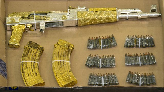 Armas secuestradas a narcos.