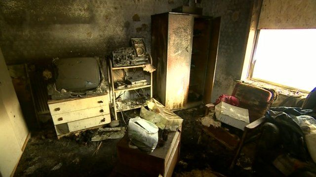 Dave Jackson's burnt out bedroom