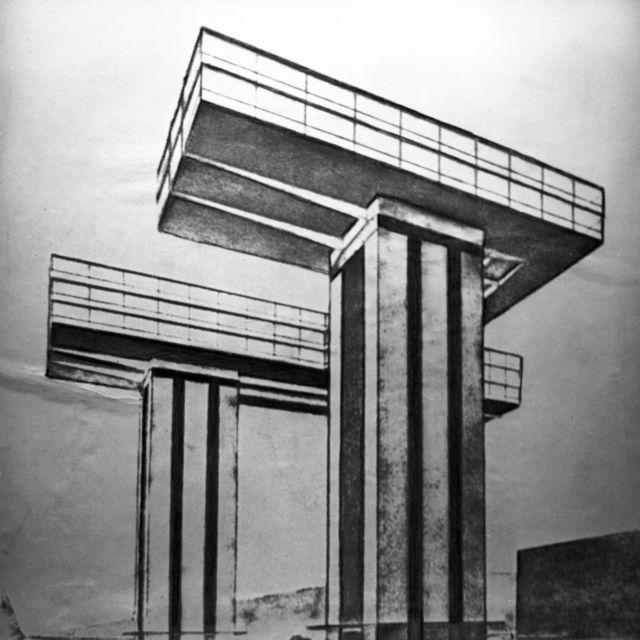 проект небоскреба Эля Лисицкого