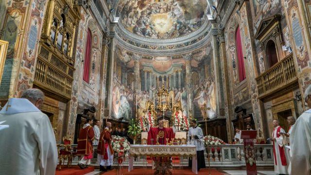 Misa durante la Congregación General de los Jesuitas