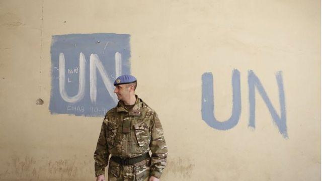 أحد جنود الأمم المتحدة في قبرص