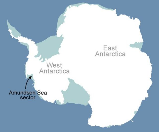 Map of Amundsen Bay