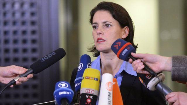 المتحدثة باسم مكتب المدعي الفيديرالي الألماني، فروكه كوهلر، تعلن الخميس إصدار أمر بالقبض على المشتبه به أنيس العامري