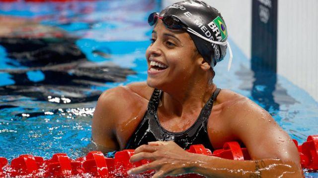 A nadadora Etiene Medeiros na Rio 2016