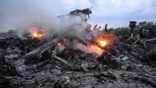 Debris of MH17 in Donetsk region, eastern Ukraine. Photo: 17 July 2014
