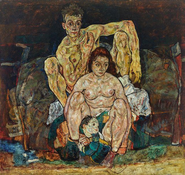 """""""La familia"""" de Egon Schiele"""