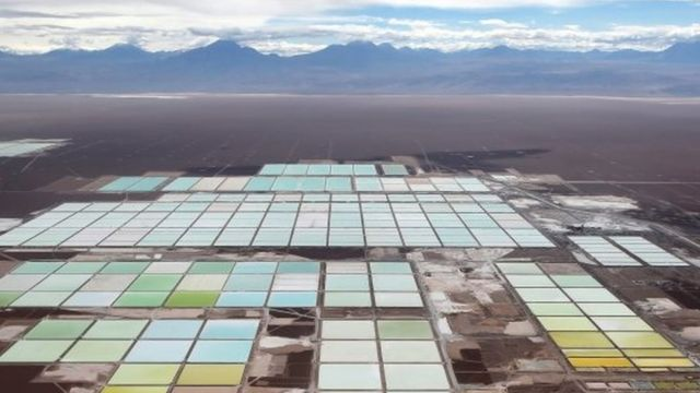 La mina SQM en Chile