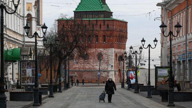 Нижний Новгород в начале апреля 1020 года во время пандемии