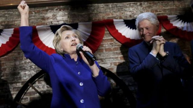 Hillary Clinton n'umgabo we Bill
