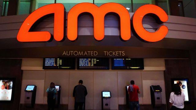 Una taquilla de un cine AMC