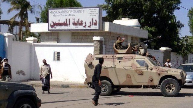 Scene of attack in Yemen
