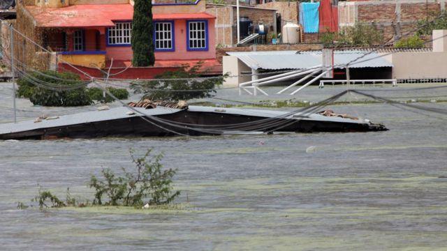 Inundaciones en Tixtla, Guerrero