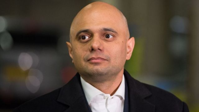 Sajid Javid, ministro del interior británico