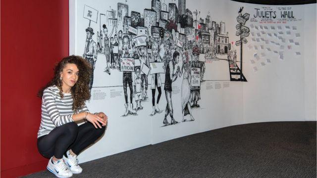 Bristol artist creates giant Romeo and Juliet murals