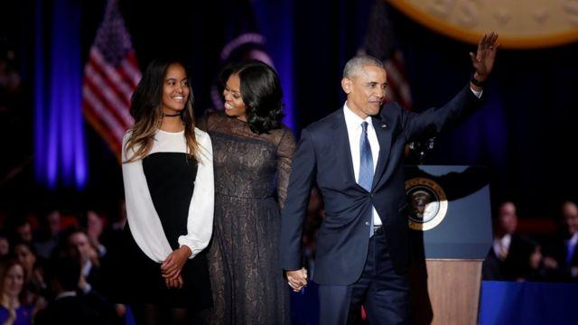 Michelle na Malia