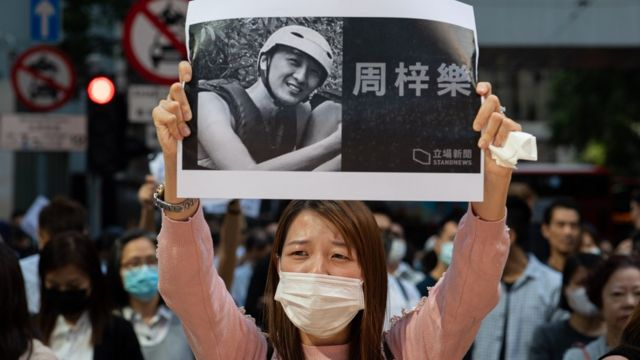 周梓乐是香港示威的重要符号。