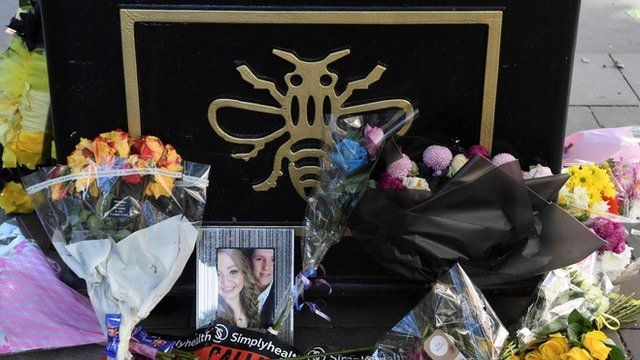 Tributes left for bombing victims