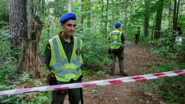 Ukrainian police cordoned off the place where Shishov's body was found