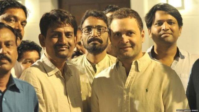 राहुल गांधी के साथ अल्पेश ठाकोर