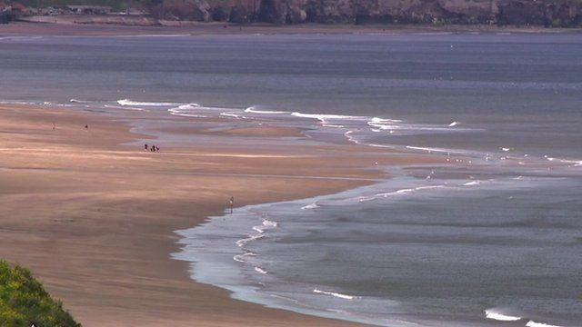 Coastal view of beach and sea