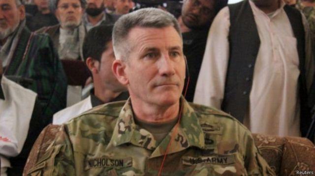 ژنرال جان نیکولسون، فرمانده جدید نیروهای آمریکایی و ناتو در افغانستان