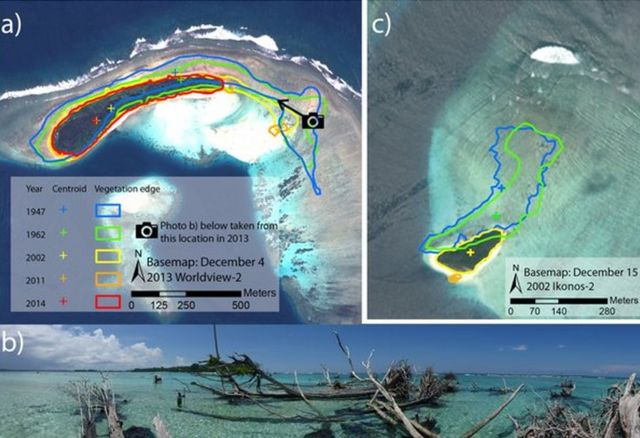 Five Pacific islands disappear as sea levels rise