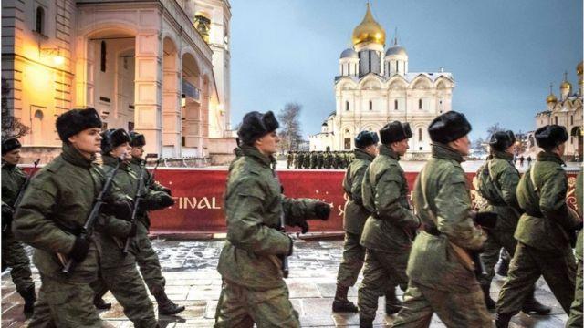 Vojna vežba u Kremlju, Moskva, 2017. godina