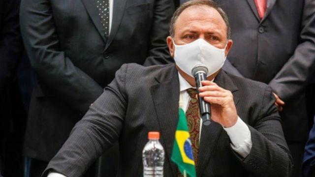 Ministro Eduardo Pazuello em foto de 18 de janeiro