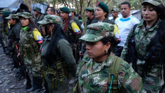 Campamento de desmovilización de las FARC.