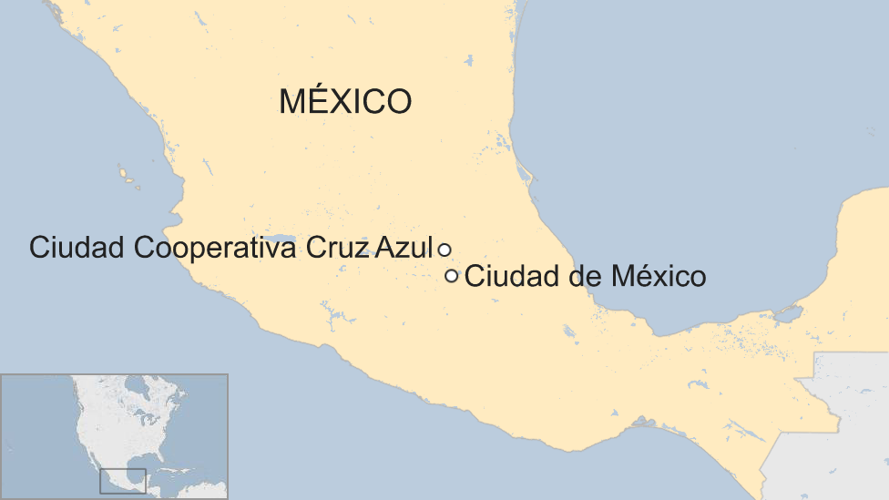 Mapa Ciudad Cooperativa Cruz Azul.