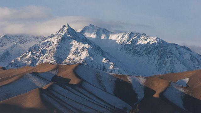کوههای پر از برف افغانستان