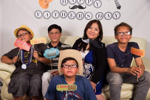 Bà Lý Trí Anh và gia đình, năm 2018