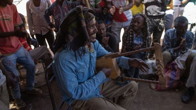 Sudan'da bir mülteci kampı