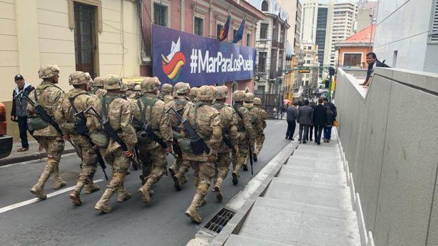militares en Bolivia.