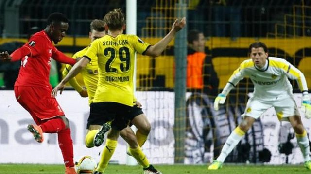 Dovock Origi abangamiye abakinyi b'inyuma ba Borussia Dortmund