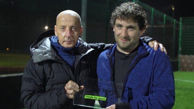 Mickey Thomas and football coach Delwyn Derrick, Wales' 2019 Unsung Hero