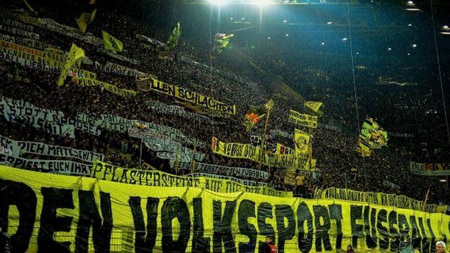 Des supporters du Borussia Dortmund