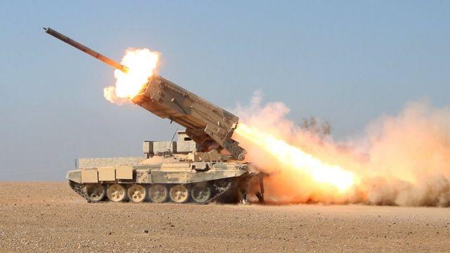 قذائف صاروخية على أحياء الموصل