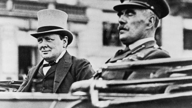 Уинстон Черчилль и начальник британского генштаба сэр Уильям Робертсон в 1917