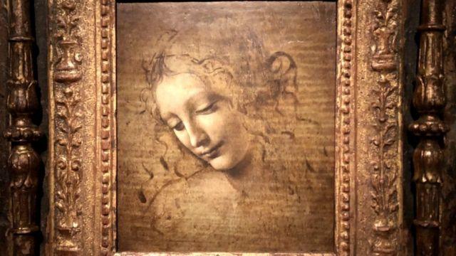 Leonardo da Vinci's The Head of a Woman (also known as La Scapigliata)